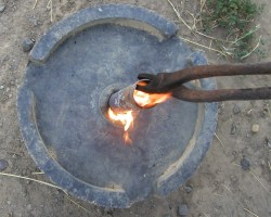 Burning the hole through