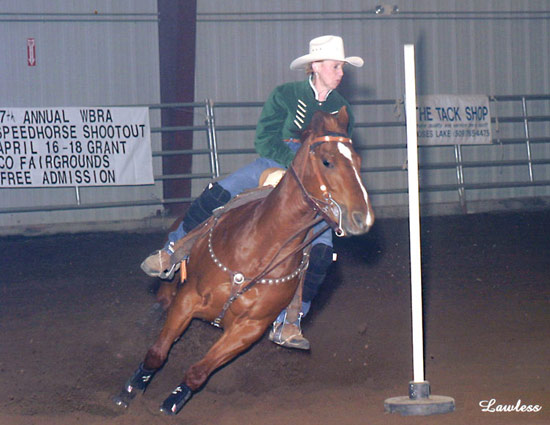 Cowgirl In The Money - Pole Bending performance photo